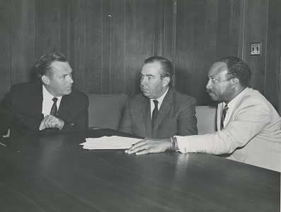 PERB'S first Board - Chair Robert D. Helsby and Members Joseph R. Crowley and George H. Fowler.