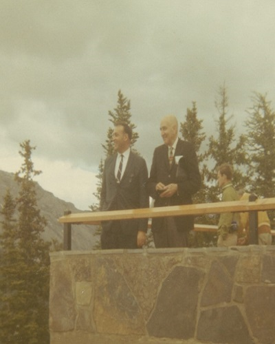 Ralph Vatalaro, PERB's Executive Director, and Harold R. Newman, at the time PERB's Director of Conciliation, 1969.