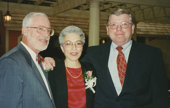 Director of Public Employment Practices and Representation (1969- 1996) Harvey Milowe and his wife, Joan, with Ken Toomey