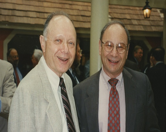 Jerry Lefkowitz served as PERB's Chair from 2007 until 2015. Here he is pictured with Howard Rubinstein.