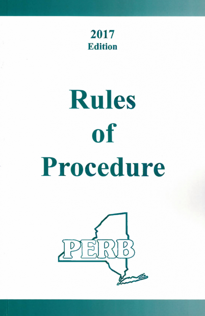Rules Of Procedure Nys Public Employment Relations Board Perb